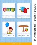 educational children game....   Shutterstock .eps vector #1406414309