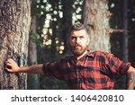 Brutal Lumberjack Leaning On...