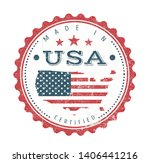 made in usa vintage badge seal  ... | Shutterstock .eps vector #1406441216