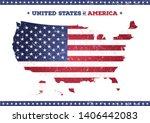 Vintage Textured American Map...