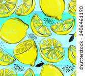 seamless vector pattern with... | Shutterstock .eps vector #1406461190