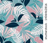 seamless pattern with tropical... | Shutterstock .eps vector #1406462816