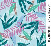 summer seamless pattern with... | Shutterstock .eps vector #1406462879