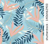 summer seamless pattern with... | Shutterstock .eps vector #1406462903
