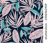 tropical seamless pattern with... | Shutterstock .eps vector #1406462909