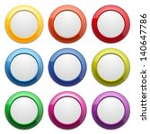 colorful glossy round buttons | Shutterstock .eps vector #140647786