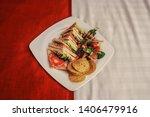 Room Service   Square Plate...