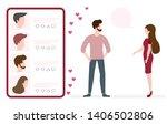 vector illustration with online ... | Shutterstock .eps vector #1406502806