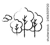 trees icon for your project    | Shutterstock . vector #1406505920