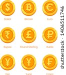 Gold Coins With Signs  Dollar ...