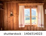 Inside Of A Rustic Wooden Hut...