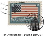 postage stamp with inscriptions ... | Shutterstock .eps vector #1406518979