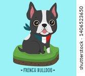 Stock photo vector icon french bulldog dog dog character puppy french bulldog illustration character dog 1406523650