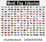 world national flag collection... | Shutterstock .eps vector #1406545346