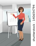 Businesswoman Giving A...