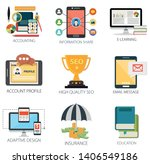business vector icons... | Shutterstock .eps vector #1406549186