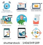 business vector icons...   Shutterstock .eps vector #1406549189