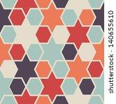 seamless retro geometric... | Shutterstock .eps vector #140655610