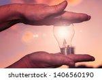 concept power energy of solar... | Shutterstock . vector #1406560190