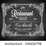 vintage frame with floral... | Shutterstock .eps vector #140656798