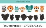 animals. learning children game.... | Shutterstock . vector #1406571680