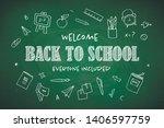 vector school banner template.... | Shutterstock .eps vector #1406597759