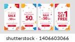 dynamic modern geometry mobile... | Shutterstock .eps vector #1406603066