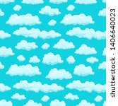clouds sky seamless pattern... | Shutterstock . vector #1406640023