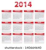 calendar for 2014 year in...   Shutterstock .eps vector #140664640