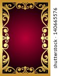 Vintage Maroon Frame With Gold...