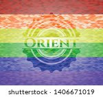orient lgbt colors emblem....   Shutterstock .eps vector #1406671019