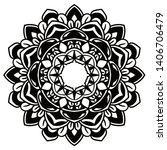 mandala vector art pattern...   Shutterstock .eps vector #1406706479