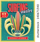 surfing otlet. vector... | Shutterstock .eps vector #140671540