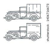 line vector icon set american...   Shutterstock .eps vector #1406716673