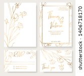 wedding invitation template... | Shutterstock .eps vector #1406718170