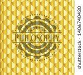 philosophy gold shiny badge....   Shutterstock .eps vector #1406740430