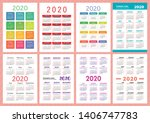 calendar 2020 year group.... | Shutterstock .eps vector #1406747783