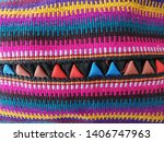 colorful thai northern style... | Shutterstock . vector #1406747963