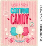 Vintage Cotton Candy Poster....