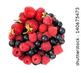 wild berries isolated on a... | Shutterstock . vector #140675473