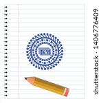 money icon drawn with pen. blue ... | Shutterstock .eps vector #1406776409