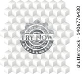 try now grey emblem. retro with ... | Shutterstock .eps vector #1406776430