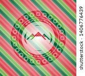 mountain icon inside christmas... | Shutterstock .eps vector #1406776439