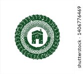 green house icon inside... | Shutterstock .eps vector #1406776469