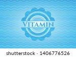 vitamin light blue water badge... | Shutterstock .eps vector #1406776526