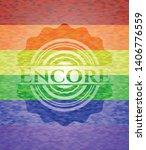 encore emblem on mosaic... | Shutterstock .eps vector #1406776559