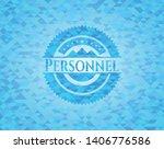 personnel sky blue emblem.... | Shutterstock .eps vector #1406776586