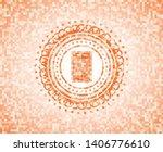 contract icon inside orange... | Shutterstock .eps vector #1406776610