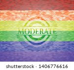 moderate on mosaic background... | Shutterstock .eps vector #1406776616