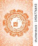 open lock icon inside orange... | Shutterstock .eps vector #1406776643